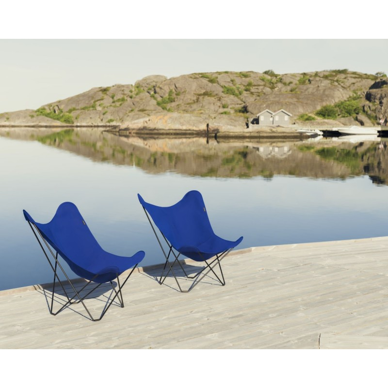 Garten Schmetterling Sessel aus Stoff Sumbrella SUNSHINE MARIPOSA Fuß Schwarz Metall (atlantisches Blau) - image 54110