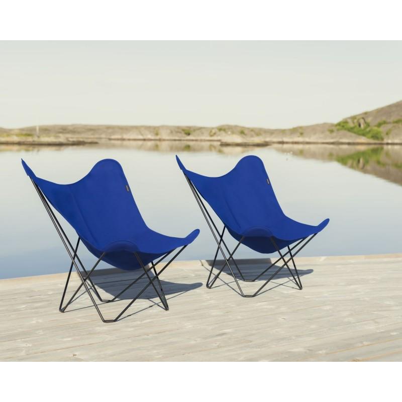 Garten Schmetterling Sessel aus Stoff Sumbrella SUNSHINE MARIPOSA Fuß Schwarz Metall (atlantisches Blau) - image 54111