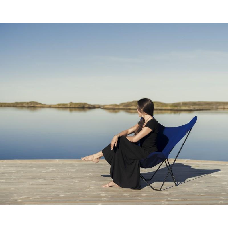 Garten Schmetterling Sessel aus Stoff Sumbrella SUNSHINE MARIPOSA Fuß Schwarz Metall (atlantisches Blau) - image 54113