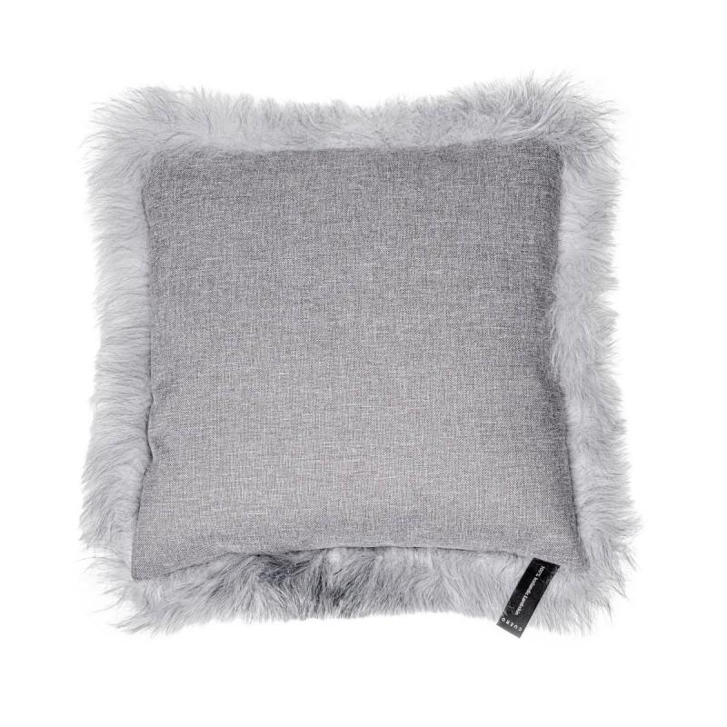Coussin en peau de mouton, poils courts ICELAND (blanc, gris) - image 54272