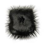 Kissen aus Schafspelz, lange Haare ICELAND (schwarz)