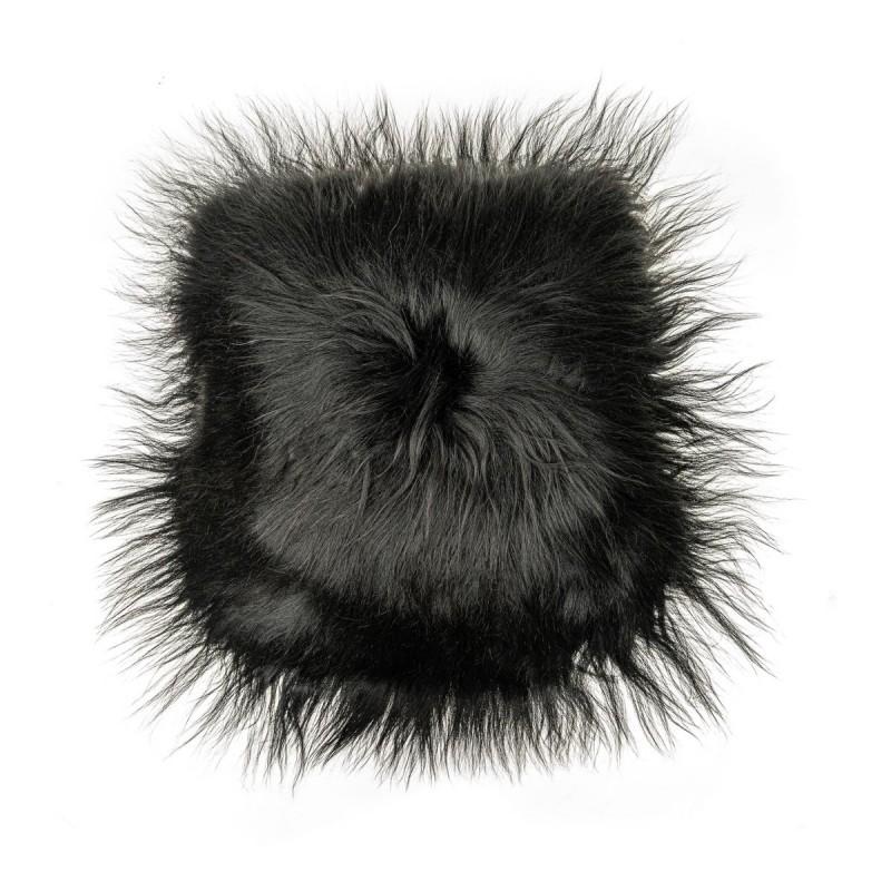 Coussin en peau de mouton, poils longs ICELAND (noir) - image 54277